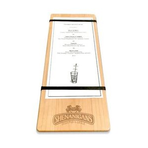 "5"" x 12"" Solid Alder Menu Board with 2 Bands - 1/2"" thick"