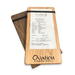 "4"" x 8"" Solid alder Check Presenter with 1 Band - 1/2"" thick"