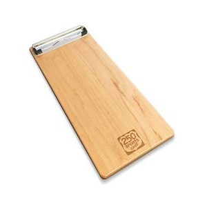 "5"" x 12"" Solid Alder Menu Board with Clip - 1/4"" thick"