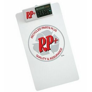 Legal Size Clipboard w/ Dual Power Calculator Clip
