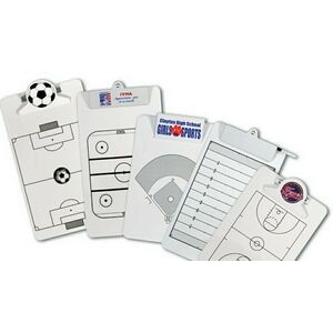 Legal Size Clipboard w/ Stock Sports Field Imprint - Plastic or Metal Clip