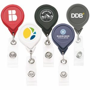 Best Round Retractable Badge Reel w/ Alligator Clip (Chroma Digital Direct)
