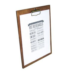 "12.5"" Wood Menu Board w/Clip"