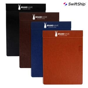 Magnetic PU Leather Clipboard with Pen Holder