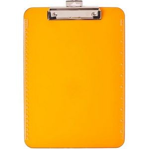 Low Profile Neon Plastic Clipboard-Orange
