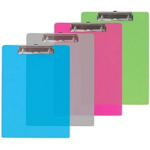 BAZIC Memo Size Plastic Clipboard w/ Low Profile Clip (Case of 24)