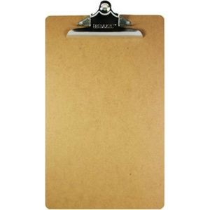 BAZIC Legal Size Hardboard Clipboard w/ Sturdy Spring Clip (Case of 24