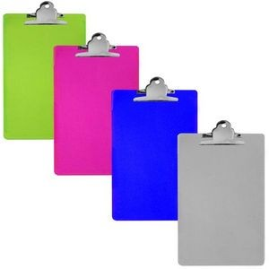 Bulk Acrylic Clip Board - 6 x 9 - assorted colors (Case of 48)
