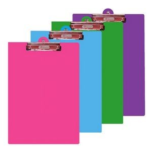 BAZIC Bright Color PVC Standard Clipboard w/ Low Profile Clip (Case of