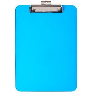 Low Profile Neon Plastic Clipboard-Blue